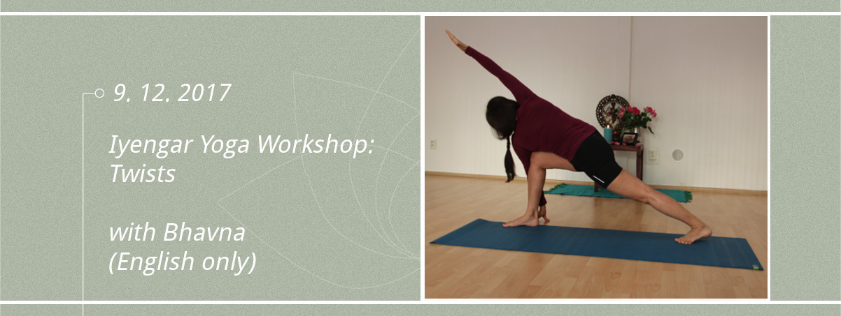 Iyengar yoga twists with Bhavna